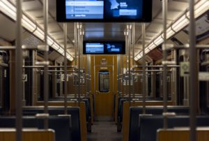 Munich subway train interior