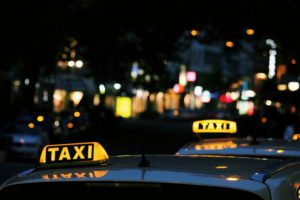Taxis waiting