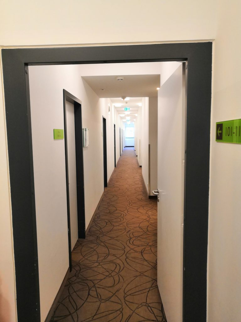 Super 8 Munich West corridor with rooms