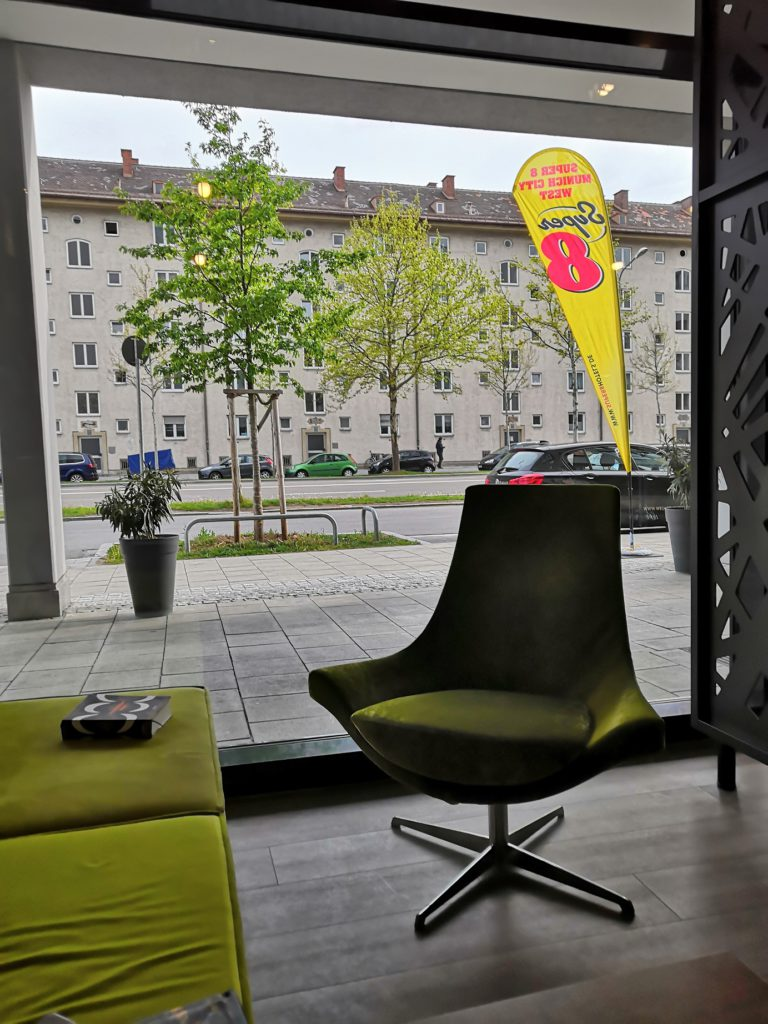View from the lobby of Super 8 Munich West